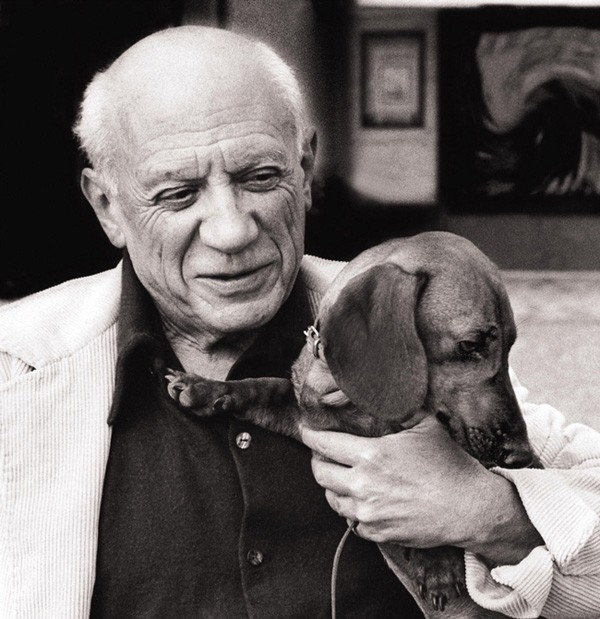 Picasso and Lump Photography by David Douglas Duncan